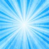 Bristningsbakgrund för blå stjärna Arkivfoto