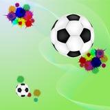 bristningsfotbollgrunge Fotografering för Bildbyråer