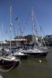 BRISTOL ANGLIA, LIPIEC, - 19: jachty przy Bristol harbourside fe Zdjęcia Stock