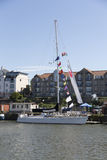 BRISTOL ANGLIA, LIPIEC, - 19th: Oceanu bieżny jacht przy Bris Fotografia Royalty Free
