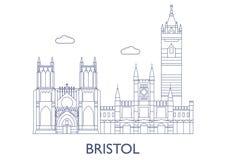 bristol As construções as mais famosas da cidade Imagem de Stock