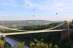 Bristol Balloon Fiesta & Clifton Bridge Royaltyfria Foton