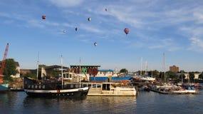 Bristol Balloons - boven de Rivier Avon Stock Fotografie