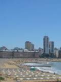 Bristol Beach, Mar del Plata, Buenos Aires stock photography