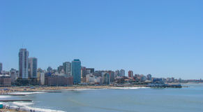 Bristol Beach, Mar del Plata, Buenos Aires royalty free stock photography