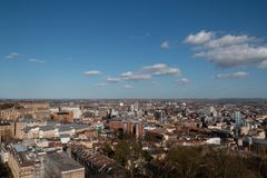View of Bristol from  above stock photography