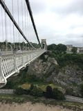 Bristol Brunel Bridge. Early suspension bridge Royalty Free Stock Images