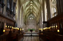 Bristol cathedral. Interior of Bristol cathedral and architecture Royalty Free Stock Image