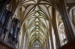 Bristol cathedral. Interior of Bristol cathedral and architecture Royalty Free Stock Images