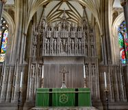 Bristol cathedral. Interior of Bristol cathedral and architecture Stock Photos