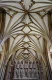 Bristol cathedral. Interior of Bristol cathedral and architecture Royalty Free Stock Photo