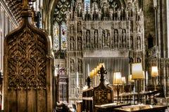 Bristol Cathedral Choir e altar imagem de stock