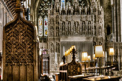 Bristol Cathedral Choir ed altare immagine stock