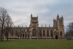 Bristol Cathedral from the front royalty free stock photo