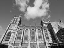 Bristol Cathedral en Bristol en blanco y negro Foto de archivo