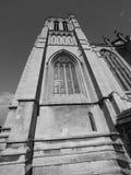 Bristol Cathedral en Bristol en blanco y negro Imagen de archivo libre de regalías