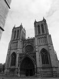 Bristol Cathedral en Bristol en blanco y negro Imágenes de archivo libres de regalías