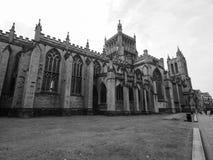 Bristol Cathedral en Bristol en blanco y negro Imagenes de archivo