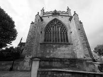 Bristol Cathedral en Bristol en blanco y negro Fotos de archivo