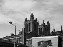 Bristol Cathedral en Bristol en blanco y negro Imagen de archivo