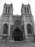 Bristol Cathedral en Bristol en blanco y negro Fotografía de archivo
