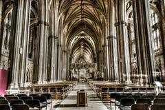Bristol Cathedral Nave Royaltyfri Fotografi
