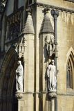 Bristol Cathedral Porch Statues imagens de stock royalty free