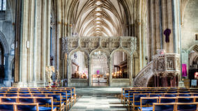Bristol Cathedral Rood screen and pulpit Stock Image