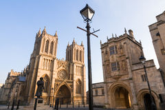 Bristol Cathedral and College Square Stock Photo
