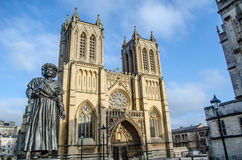 Bristol. Cathedral seen from College square, , UK Stock Photos