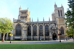 Bristol Cathedral in Bristol City England Stock Images