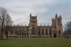 Bristol Cathedral von der Front lizenzfreies stockfoto