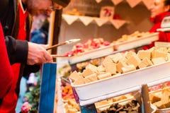 Bristol Christmas Market, German Market - Fudge. England, Bristol - November 12, 2016: Bristol Christmas Market, German Market - Fudge Royalty Free Stock Photos