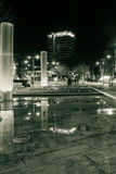 Bristol City centre fountain and Colston Tower by night Stock Image