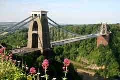 Bristol, Clifton Aufhebung Brige lizenzfreie stockfotos