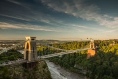 Bristol, Clifton Suspension Bridge and Balloon Fiest Stock Photography