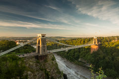 Bristol, Clifton Suspension Bridge and Balloon Fiest Royalty Free Stock Image