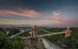 Bristol, Clifton Suspension Bridge Stock Image