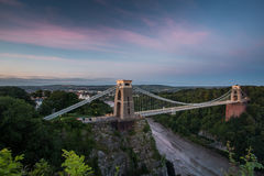 Bristol, Clifton Suspension Bridge Stock Photo