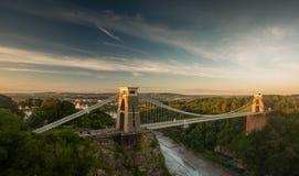 Bristol, Clifton Suspension Bridge. Isambard Kingdom Brunels landmark suspension bridge Royalty Free Stock Image