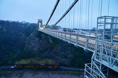 Bristol Clifton zawieszenia most fotografia stock