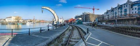 Bristol Docks Panoramic (grúa) Fotografía de archivo
