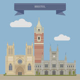 Bristol, England. Bristol, city in South West England vector illustration