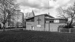 River of Life Christian Centre BW. Bristol, England - Feb 5, 2018: River of Life Christian Centre BW, Gospel Church in Hartcliffe, South Bristol Stock Photography