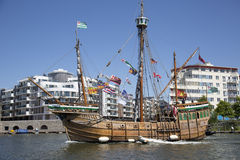 BRISTOL, ENGLAND - JULY 19: The replica sail ship The Matthew fe Stock Photo