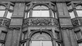 Decorated facade of building on St Stephens Street. Bristol, England - March 16, 2018: Decorated facade of building on St Stephens Street, city centre of Bristol Stock Photo