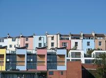bristol färgglada hus Arkivfoto