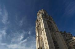 Bristol Förenade kungariket, 21st Februari 2019, Wills det minnes- byggande tornet på universitetet av Bristol fotografering för bildbyråer
