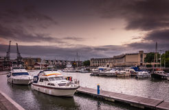 Bristol harbor at evening Royalty Free Stock Image