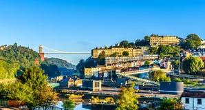Bristol harbourside på soluppgång Royaltyfri Fotografi